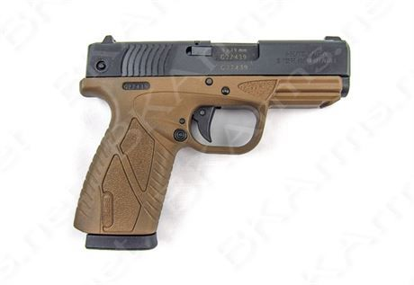 FREE SHIPPING to CONUS! Manufacturer- Bersa. Manufacturer Part Number- BP9DECC. AMBIDEXTROUS SAFETY- No. BARREL LENGTH IN INCHES- 3.3. CALIBER- 9MM LUGER. FINISH- BLACK SLIDE/DARK EARTH FRAME. FRAME MATERIAL- POLYMER. GRIP MATERIAL- POLYMER. MAGAZINE CAPACITY- 8. NUMBER OF MAGAZINES INCLUDED- 1. BOTH SIGHTS ARE INTERCHANGABLE, INTEGRAL LOCKING SYSTEM, PICATINNY RAIL, POLYGONAL RIFLING, LOADED CHAMBER INDICATOR. TYPE ACTION FUNCTION- SEMI-AUTO. TYPE OF SIGHTS- 3-DOT FIXED. WEI...