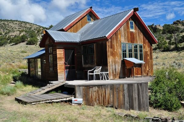 Tiny Mountain Houses Location: Small Rustic Cabin Off The Grid In San Luis Valley In