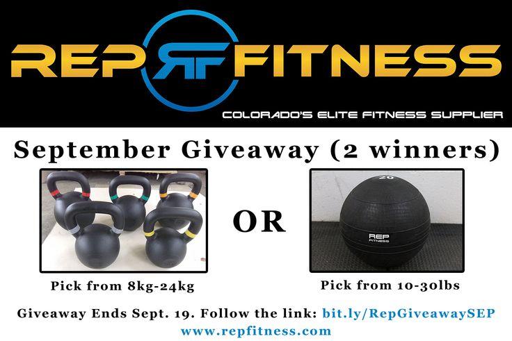 Rep September #Giveaway. 2 Winners will get their pick of an 8kg-24kg kettlebell or 10-30lb slamball. Enter here: http://www.rafflecopter.com/rafl/display/e2473bcd3/
