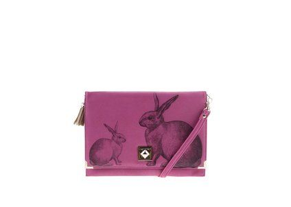Růžové vintage psaníčko s králíky Disaster Bohemia