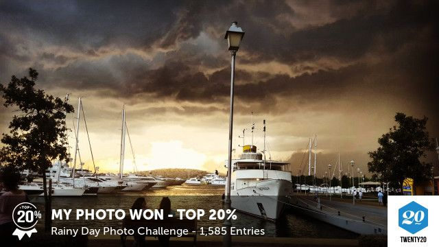 My photo was voted Top 20% in the Rainy Day challenge on Twenty20. See the entries.