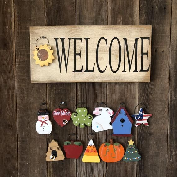 Farmhouse Style Mini Welcome Sign Craft Show Ideas Crafts Holiday Crafts