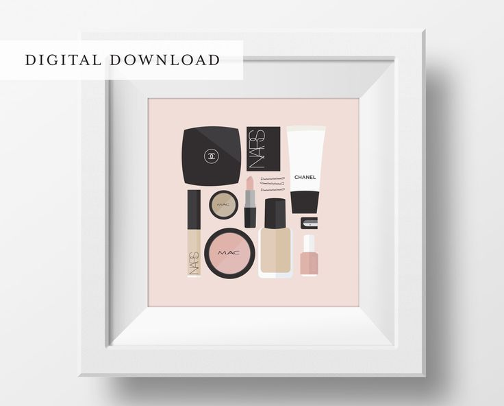 Flat Lay Illustration | Makeup Drawer | Girly Print | Fashion Print | Makeup Print | DIGITAL DOWNLOAD by StyledInPrint on Etsy https://www.etsy.com/listing/264324515/flat-lay-illustration-makeup-drawer