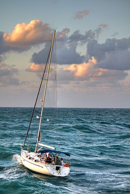 I would love to own one of these all for myself sail with the wind and have a side small outboard engine ...