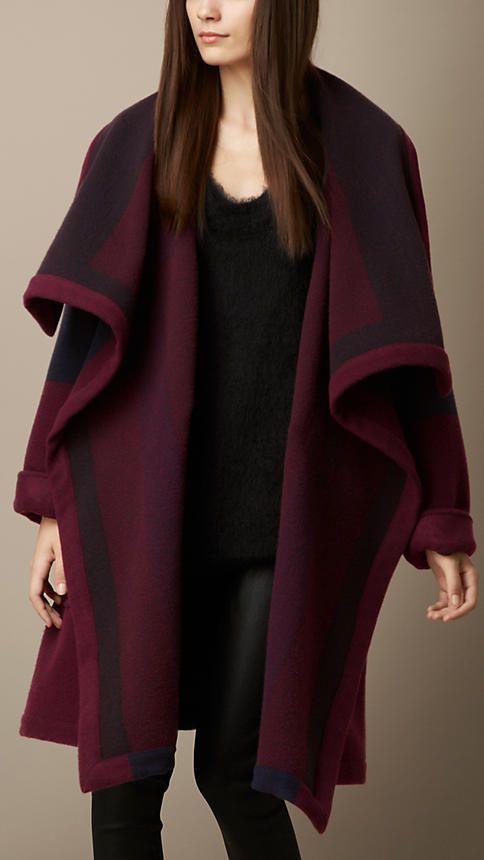 blanket coat @burberry                                                                                                                                                                                 More
