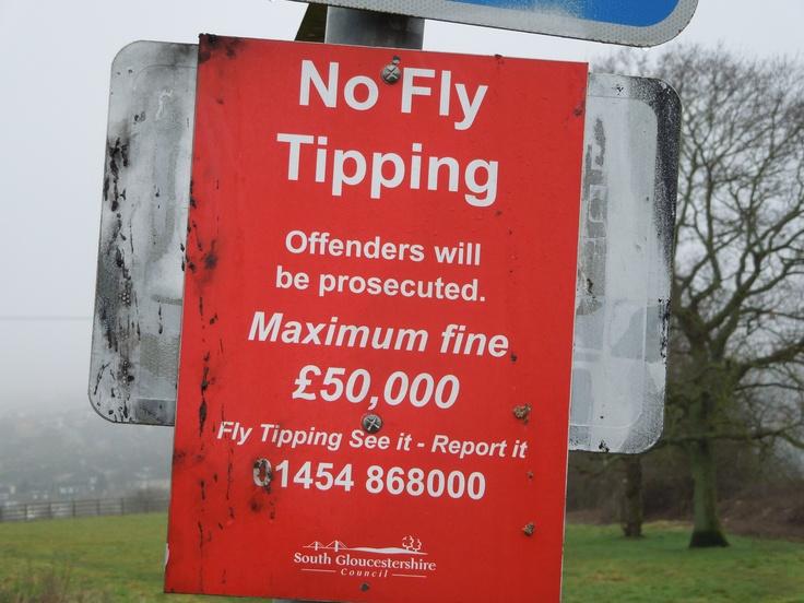 Signs don't stop it. Bleedin' flytippers.