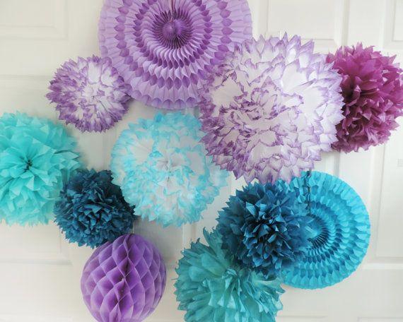 8 globos confeti inspirado congelados congelados por HandDyedPoms