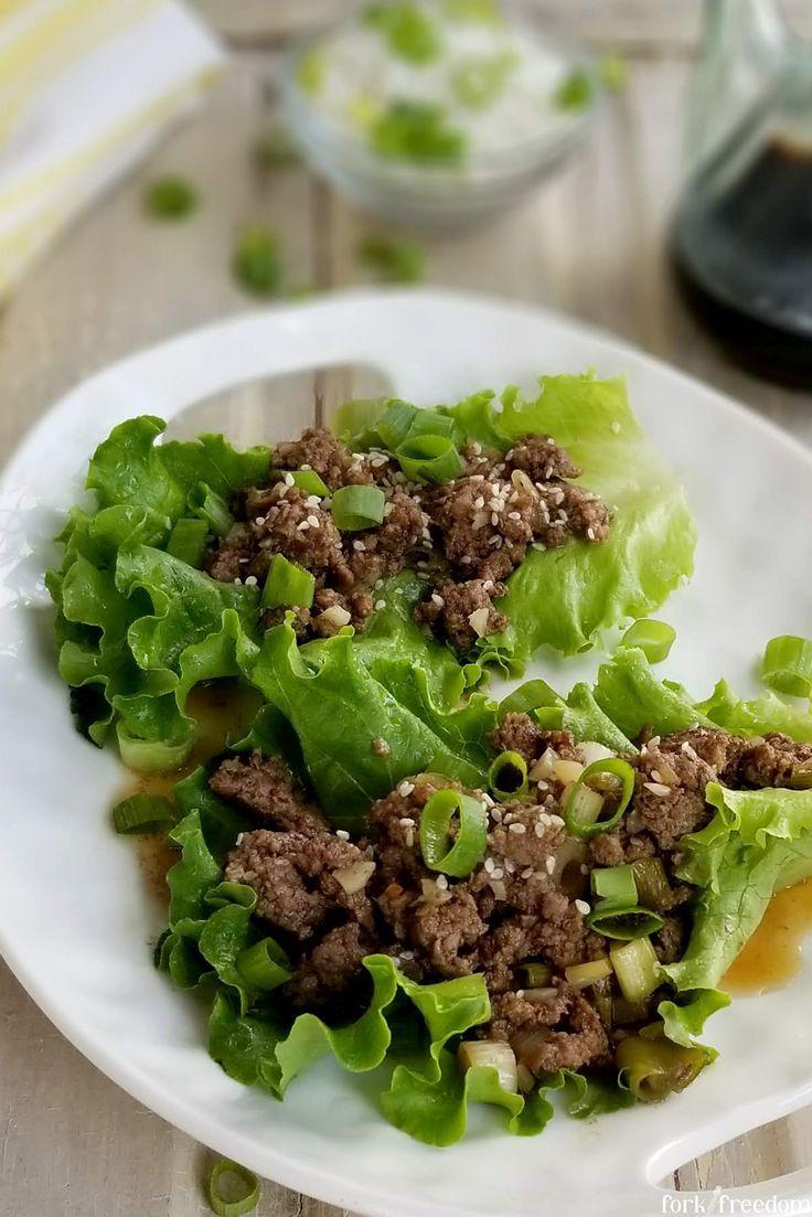 Korean Beef Lettuce Wraps Recipe In 2020 Beef Lettuce Wraps