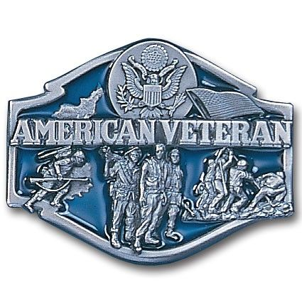 "Checkout our #LicensedGear products FREE SHIPPING + 10% OFF Coupon Code ""Official"" American Veteran Enameled Belt Buckle - Officially licensed Military, Patriotic & Firefighter product Fully cast, metal buckle Bail fits belts up to 2 inches wide Exceptional detail with an enameled finish  - Price: $21.00. Buy now at https://officiallylicensedgear.com/american-veteran-enameled-belt-buckle-t80e"