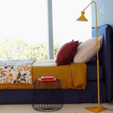 Bout de canapé Cage fil métal, Am.Pm - joli assemblage de couleurs