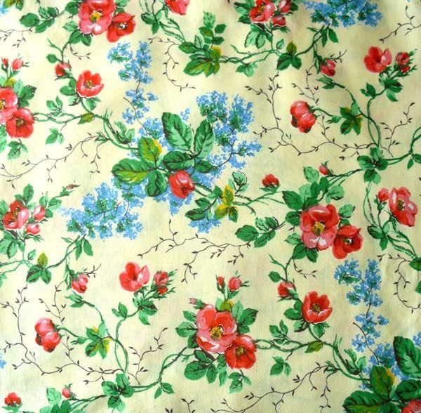 Rag Rescue - Unused French vintage fabric - JN21
