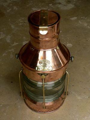 #navigationlantern #britishlantern #copper #brass Navigation Lantern - Griffiths & Sons, Birmingham.