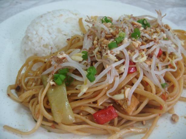 low fat, low cal, vegan pad thai