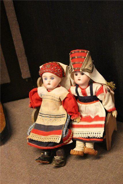 Малышки Шраера и Фингергута из музея игрушки в Сергиевом Посаде / Винтажные антикварные куклы, реплики / Бэйбики. Куклы фото. Одежда для кукол