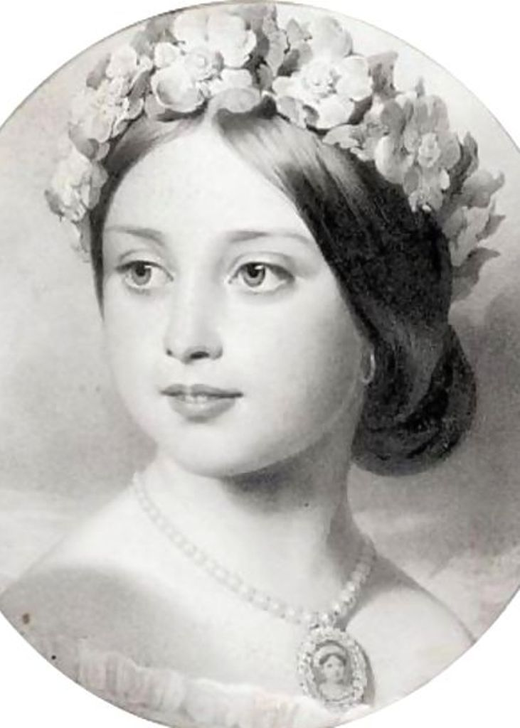 Young Princess Victoria, daughter of Queen Victoria and Prince Albert