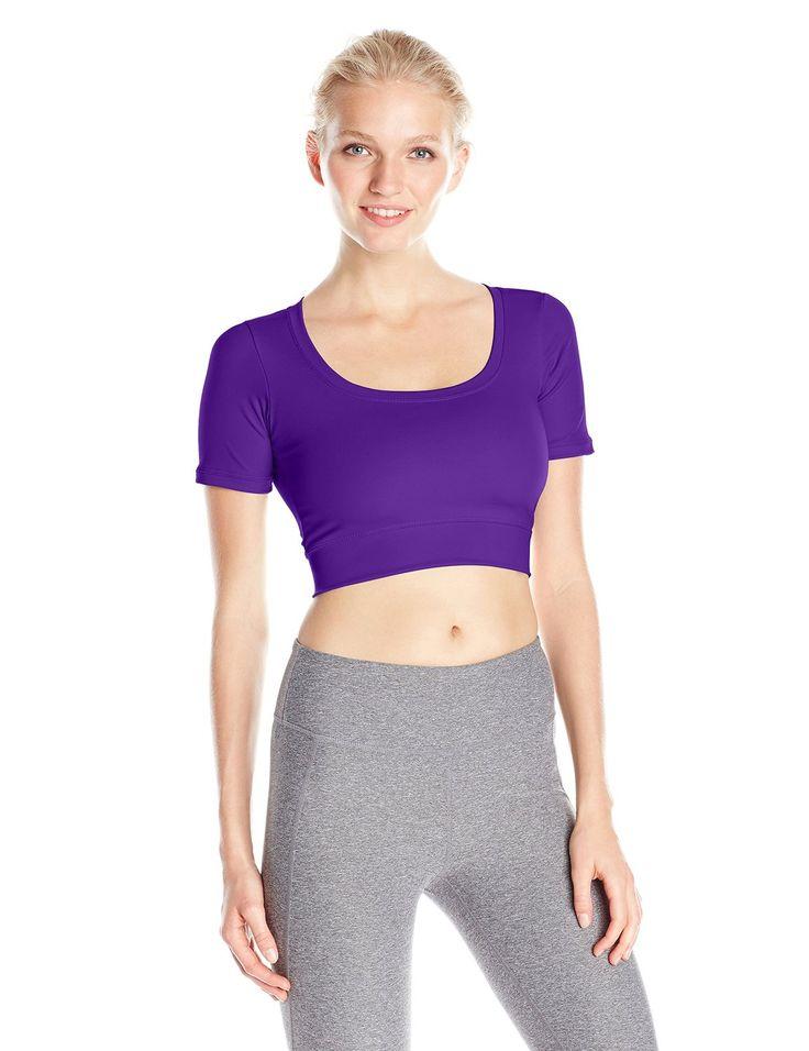 Capezio Women's Crop Top Adult at Amazon Women's Clothing store: