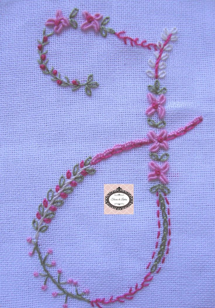 Embroidered Monogram Letter J Sample