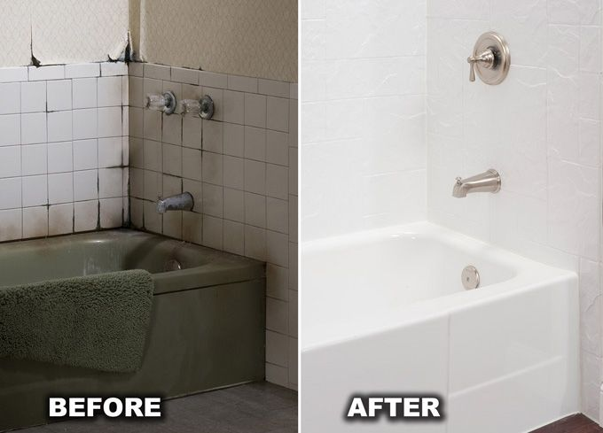 Best 25+ Bathtub liners ideas on Pinterest | Tub shower combo ...