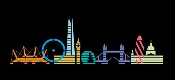 I monumenti architettonici più famosi di Londra nei poster minimali di Christopher Dina