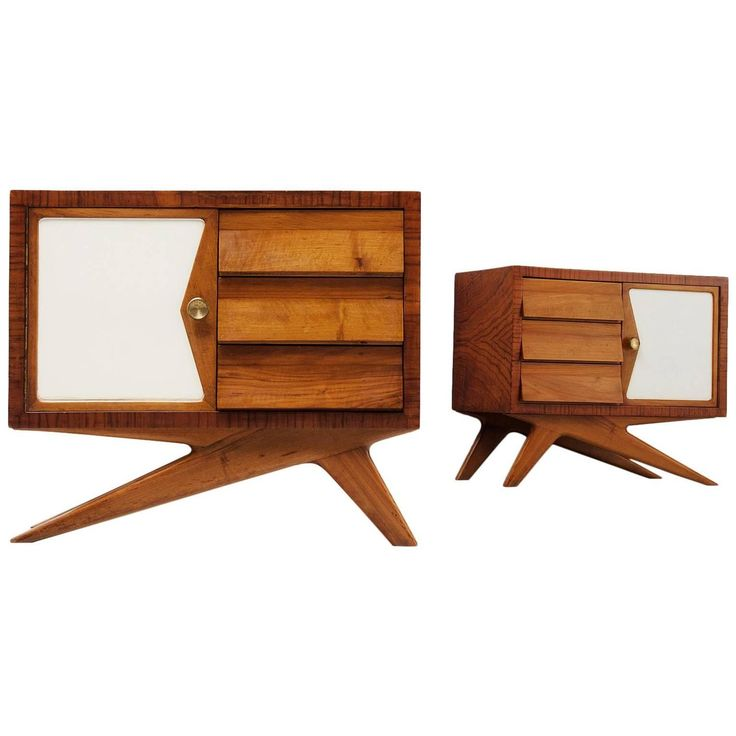 Melchiorre Bega Pair of Nightstands | From a unique collection of antique and modern night stands at https://www.1stdibs.com/furniture/tables/night-stands/