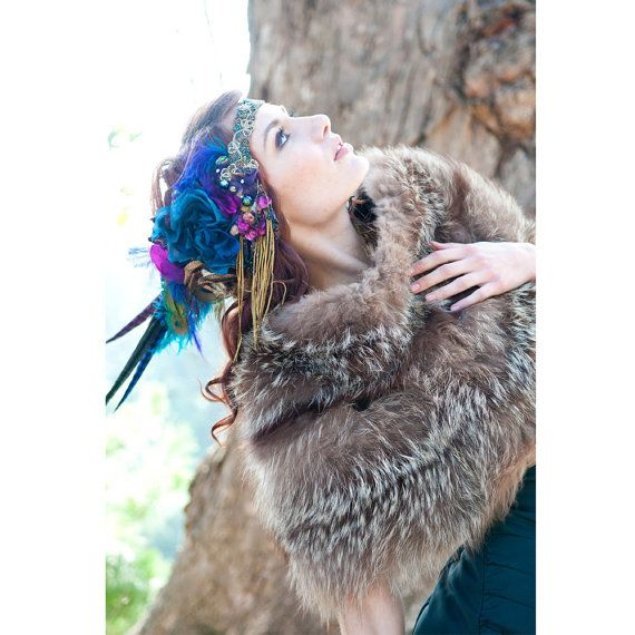 The Joanna Headdress Custom Colors Available by TheHouseOfKatSwank