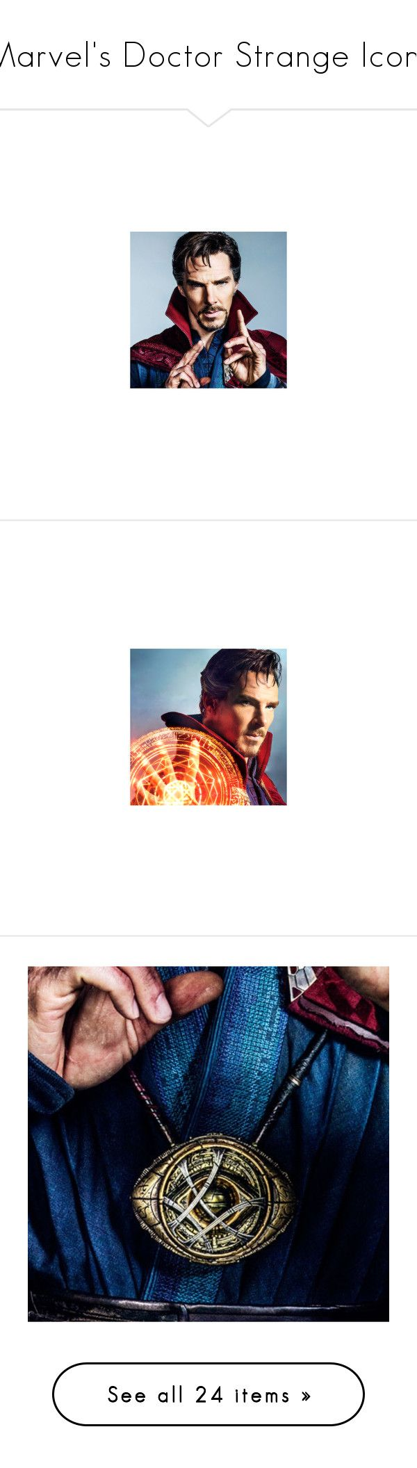 """Marvel's Doctor Strange Icons"" by once-upon-a-peytenn ❤ liked on Polyvore featuring avengers, doctor strange, marvel and accessories"