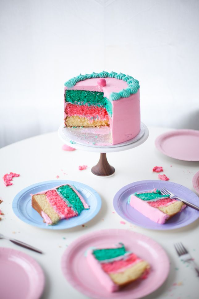 4385 best cakes images on pinterest cakes layer cakes and desert pink rainbow cake balance fandeluxe Image collections