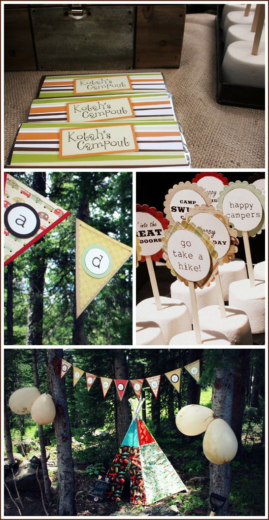 Real Party S Mores Camp Out Pinterest Camping Birthdays And Fun Sleepover Ideas