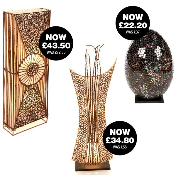 Fabulous fair trade hand crafted lighting - 40% off selected lamps until 31.12.16 plus FREE DELIVERY ON EVERYTHING!