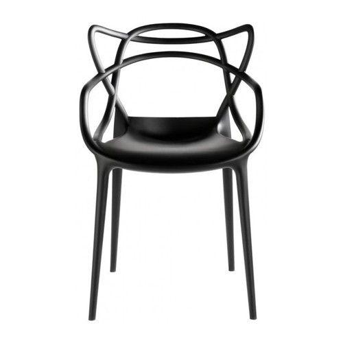 Masters is licht, praktisch, stapelbaar en verkrijgbaar in verschillende kleuren. Deze stoel kan ook gebruikt worden voor buiten.   Afmeting: 57 x 47 x 84 cm (lxbxh)  Zithoogte: 46 cm (h)