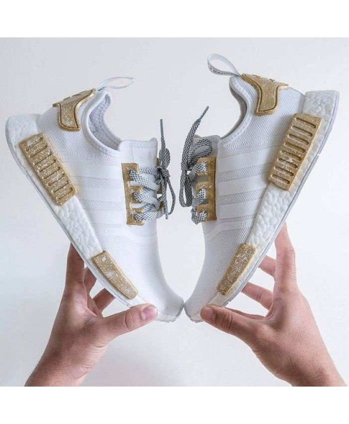 release date: e4cac d89bf Adidas NMD White Gold Trainers Sale