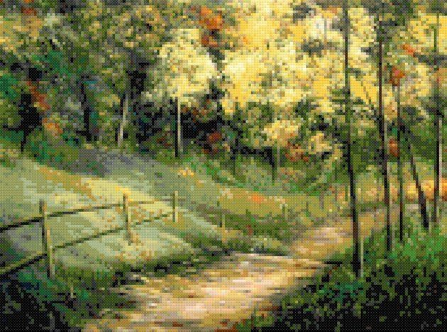 Pathway of life - landscape cross stitch kit or pattern