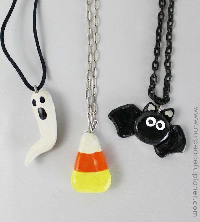 Very simple Halloween Clay Jewelry.