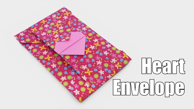 Origami Heart Envelope, designed by Jo Nakashima (25/jan/2015) Difficulty level: Simple My paper: 15cm x 15cm origami paper (Jong Ie Nara) (finished model: 5...