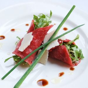 Beef Carpaccio with Parmesan and Dijon Vinaigrette