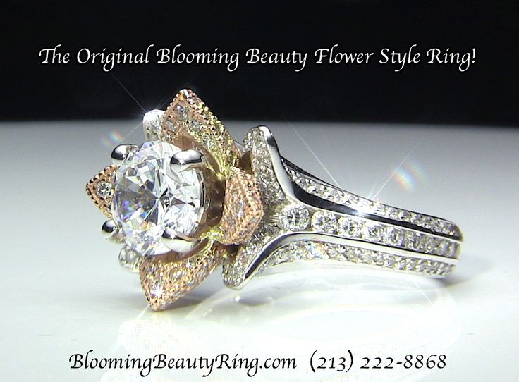 The Original Blooming Beauty Flower Style Engagement Ring or #AnniversaryRing by BloomingBeautyRing.com