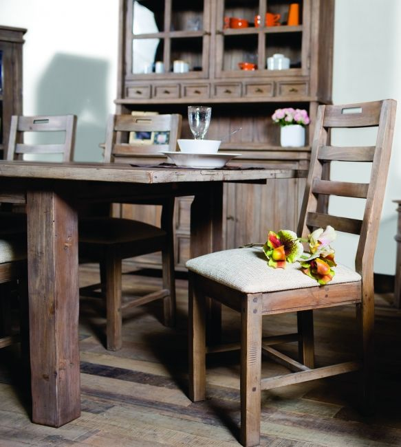 Settler Dining Set In Sundried Stain Reclaimed Pinterest House - Chantilly distressed dining table by little tree furniture
