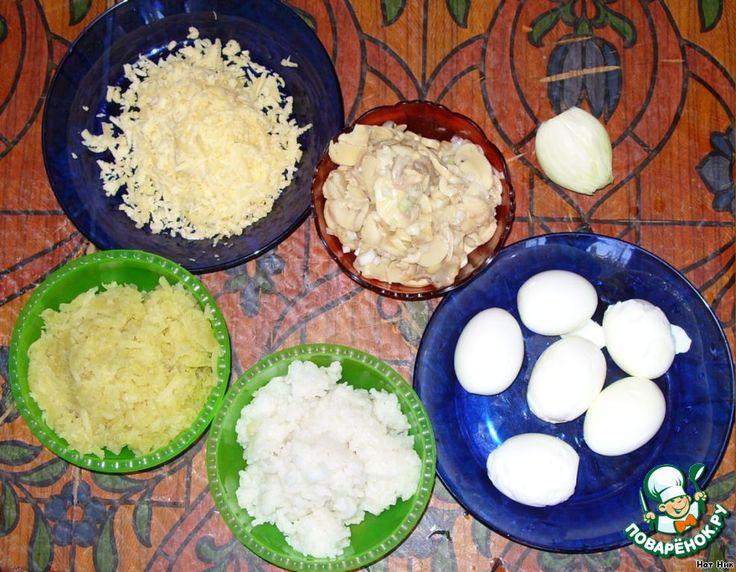 Салат грибы картофель яйцо