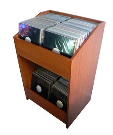 LPBIN Cherry LP Storage Cabinet