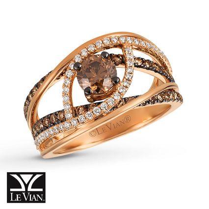 Sweet Chocolate! Le Vian Chocolate Diamonds® Ring 1 3/8 Ct Tw