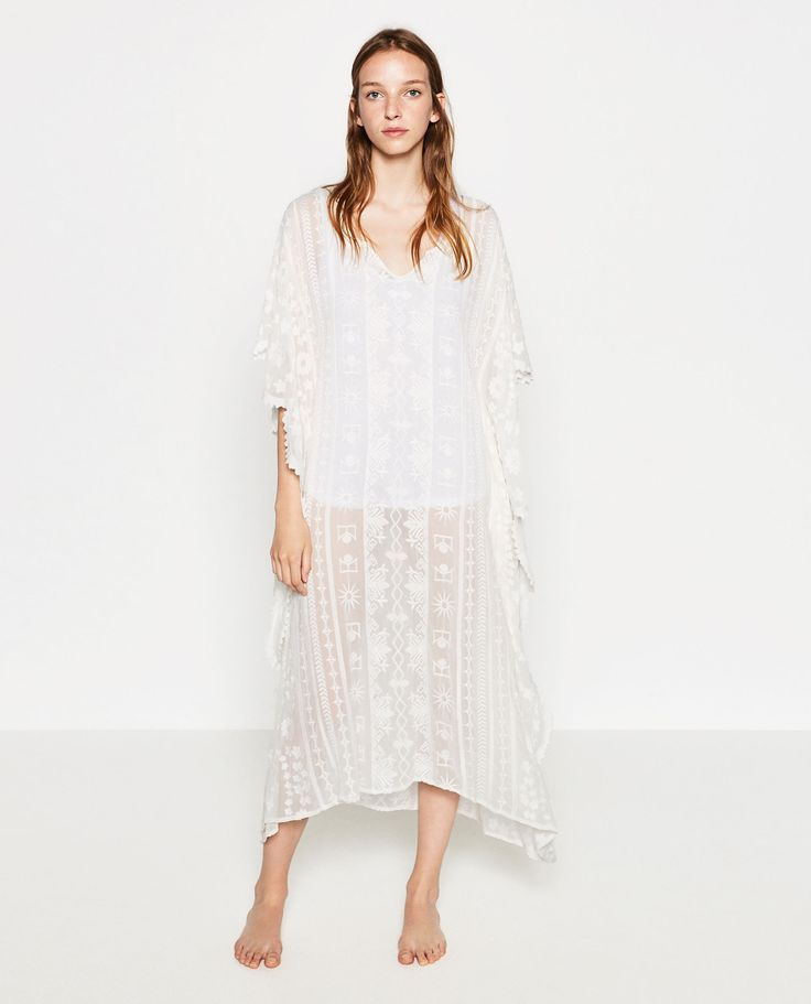 Image 1 of EMBROIDERED KAFTAN from Zara