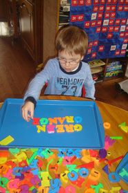 Cookie Sheets re-purposed for literacy centers spray paint old or cheap ones