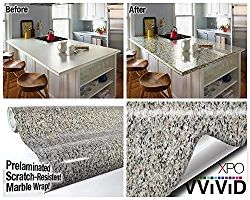 """Beige Black Marble Gloss Vinyl Architectural Wrap for Home Office Furniture Wallpaper Tile Sheet 6.5ft x 15.9"""" Roll (6.5ft x 15.9"""" 1 roll)"""