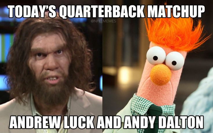 Andrew Luck vs Andy Dalton haha