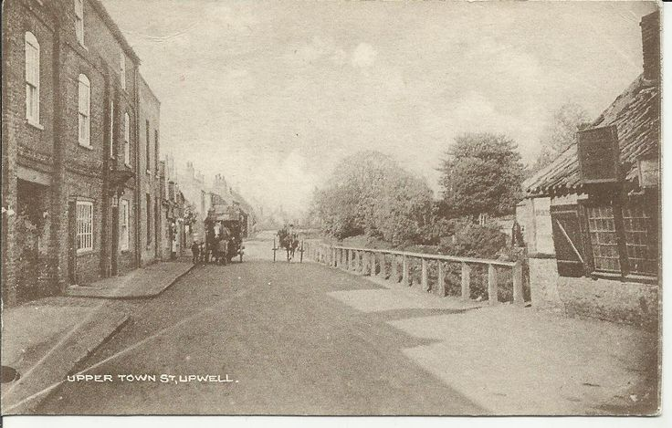 VINTAGE POSTCARD UPPER TOWN STREET UPWELL, NORFOLK. UNPOSTED.A.H.COE.POST OFFICE | eBay