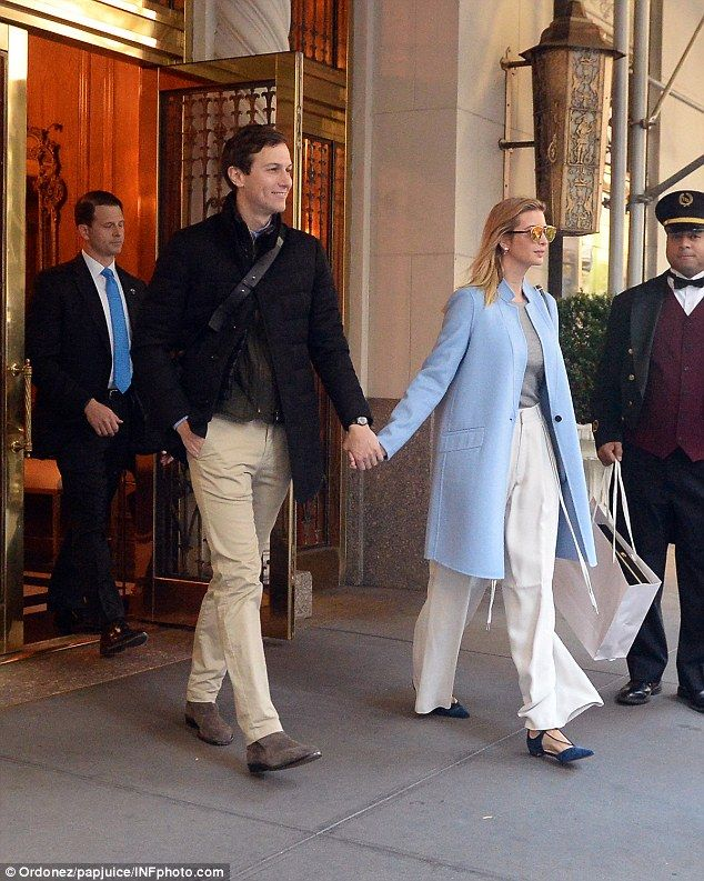 """Be beautiful in blue this fall with a Milly coat like Ivanka's  Click """"Visit"""" to buy #DailyMail"""
