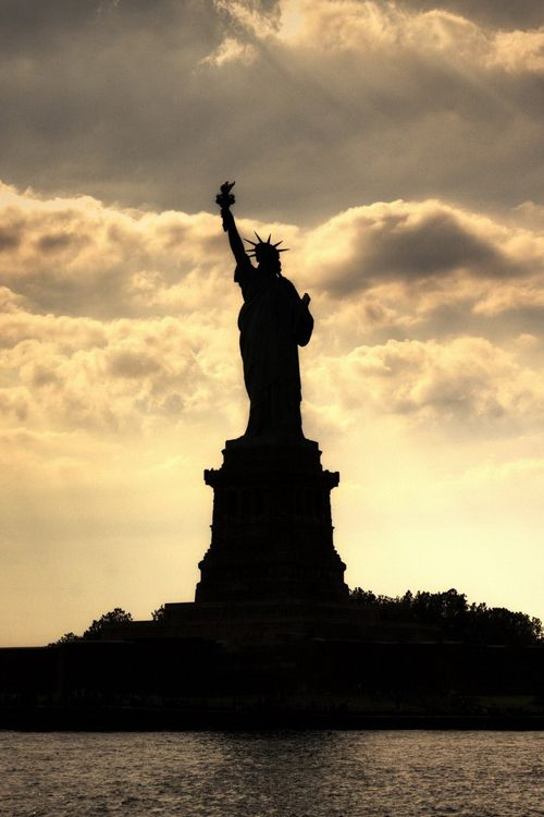 Silhouette ~ Statue of Liberty