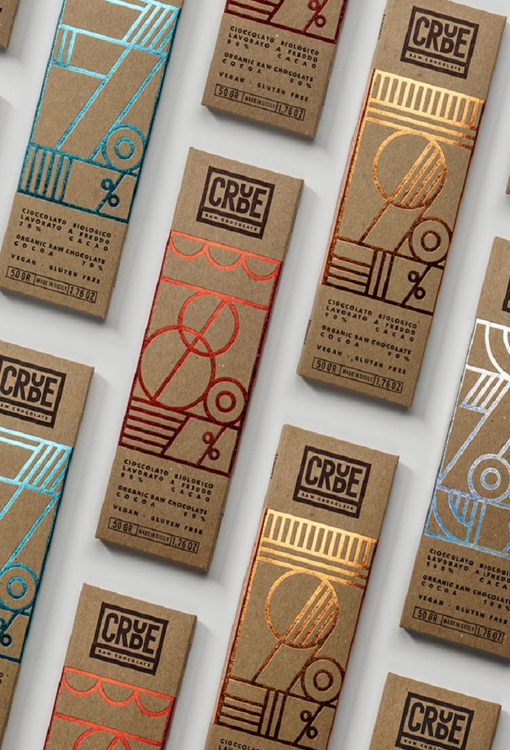 Crude - Raw Chocolate by Happycentro #graphic #design #packaging