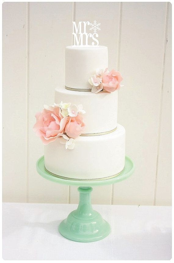 Custom Wedding Cake Topper Mr e Mrs fiocco di neve inverno Wedding Cake Topper