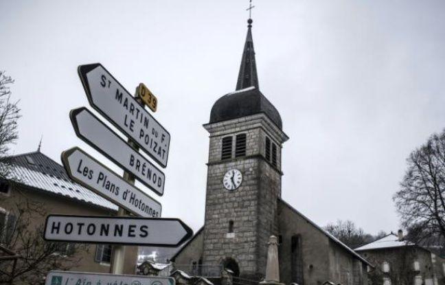L'église du village du Grand-Abergement, dans l'Ain, le 4 février 2016
